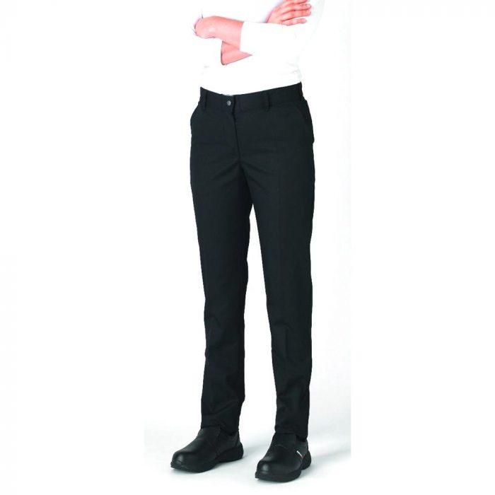 le tailleur vente en ligne vetements restauration hotellerie pantalon de cuisine femme adelie noir adelie noir