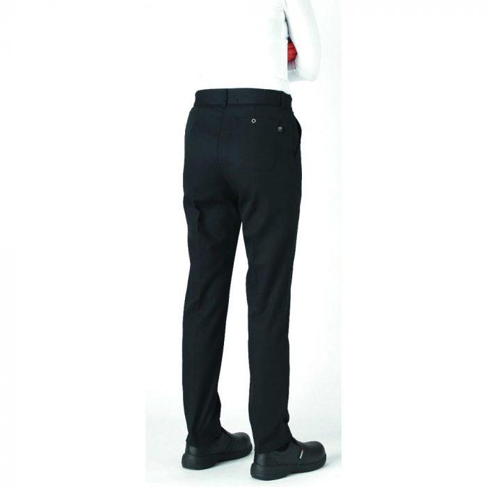 le tailleur vente en ligne vetements restauration hotellerie pantalon de cuisine femme adelie noir adelie noir dos 1