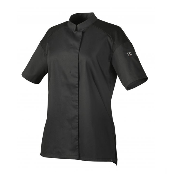 le tailleur vente en ligne vetements restauration hotellerie veste de cuisine femme cadix mc noir le tailleur vente en ligne vetements restauration hotellerie cadix mc noir
