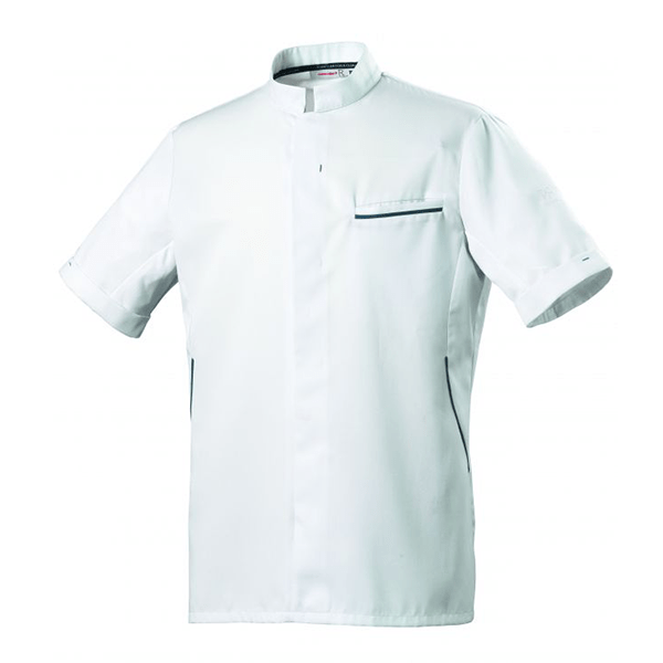 le tailleur vente en ligne vetements restauration hotellerie veste de cuisine homme mc blanc bleu ocean le tailleur vente en ligne vetements restauration hotellerie dunes blanc mc