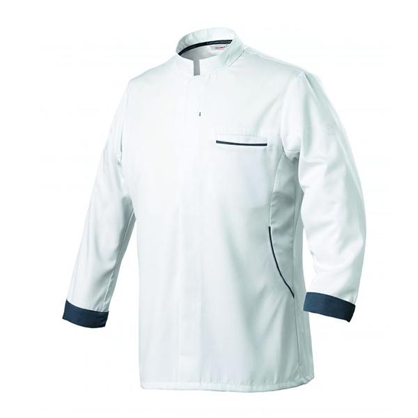 le tailleur vente en ligne vetements restauration hotellerie veste de cuisine homme ml blanc bleu ocean le tailleur vente en ligne vetements restauration hotellerie dunes blanc ml